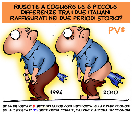 DIFFERENZE TRA IL 1994 E 2010 di P.V