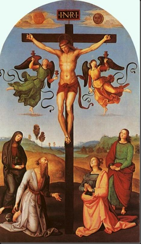 Gesù in croce con la Madonna,san Girolamo,Maria Maddalena e Giovanni Battista