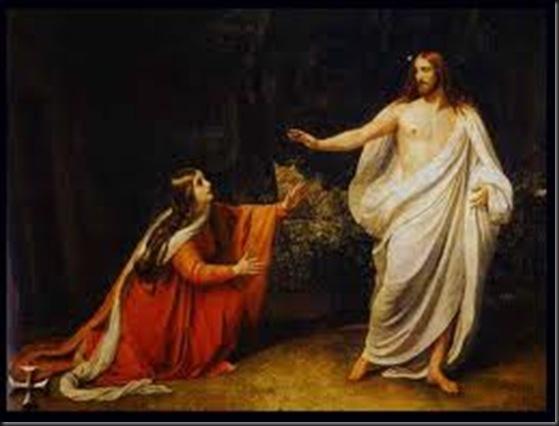 Maria Maddalena,Gesù risorto