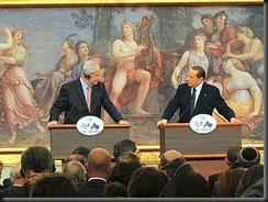 Roma 13 giugno 2011, Villa Madama: vertice Italia -Israele con il Presidente Silvio Berlusconi e il premier israeliano Benjamin Netanyahu.