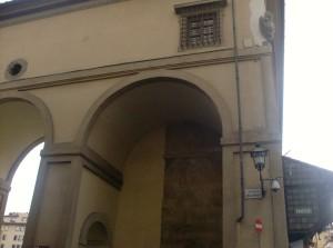 Firenze Piazza del Pesce (Ponte Vecchio)