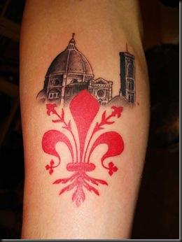 tatoo firenze giglio rosso