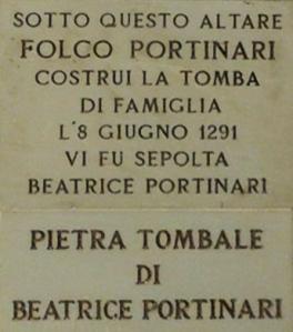 BeatricePortinari_lapide