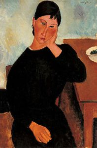 Amedeo_Modigliani_-_Elvira_Resting_at_a_Table
