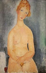 Amedeo_Modigliani_(1884-1920)_-_Seated_Nude,_1918