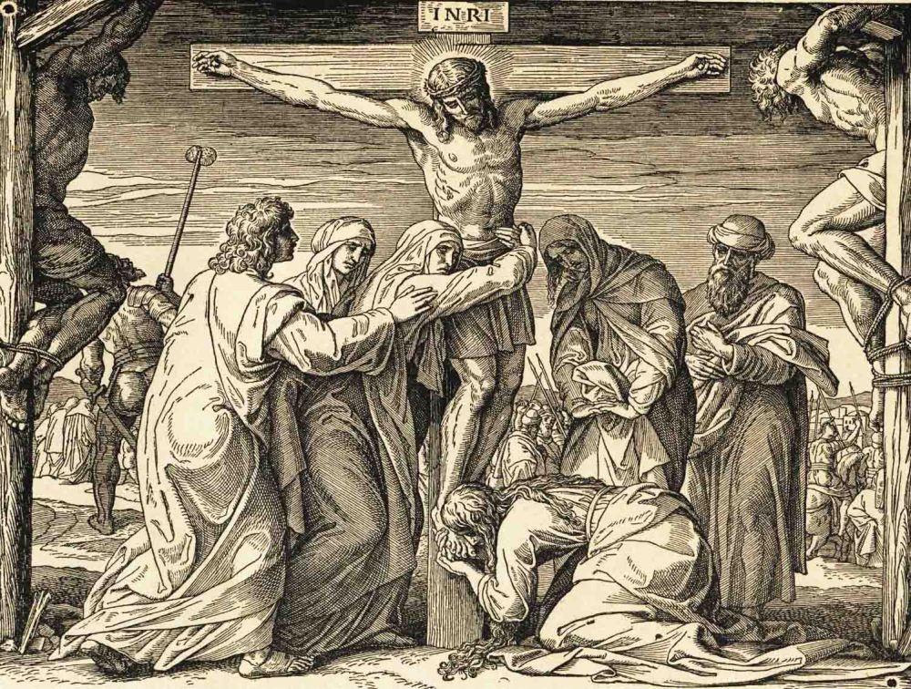 Gesù croce le tre Marie,Giovanni