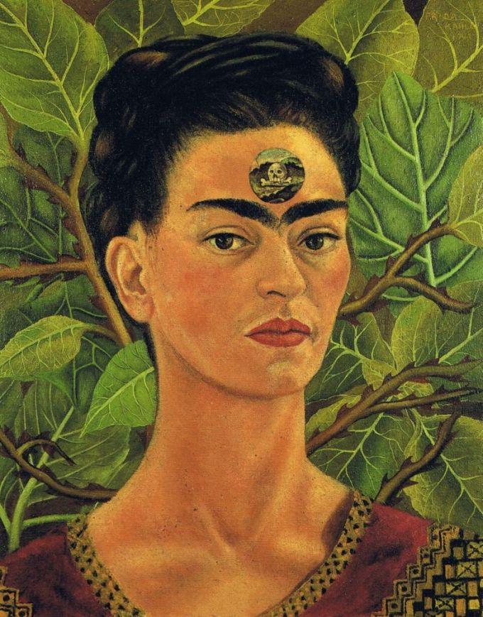Frida Khalo,ritratto con teschio