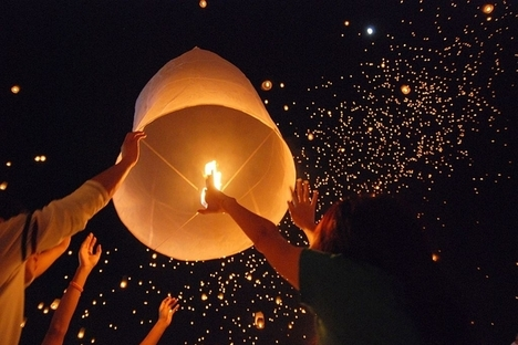 lanterne verso il cielo