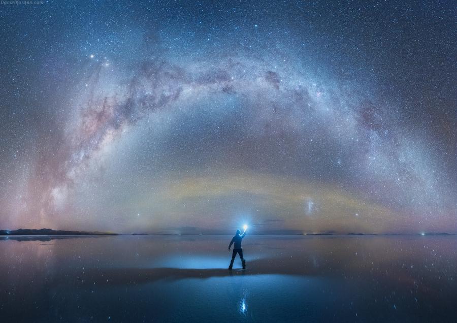 universo stellato uomo
