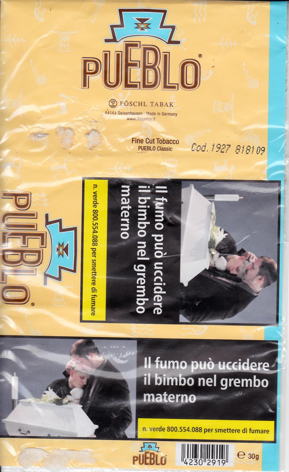 campagna del Ministero dell Sanità italiana contro il fumo
